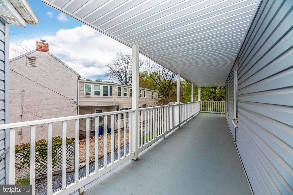 Balcony from Master BR - 116 S JEFFERSON ST, FREDERICK
