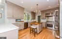 Island in kitchen has Cherry counter top - 2700 BEECHWOOD PL, ARLINGTON