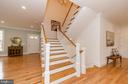 Custom balustraded staircase with Oak treaded - 2700 BEECHWOOD PL, ARLINGTON