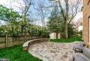 Partially fenced yard - 2700 BEECHWOOD PL, ARLINGTON