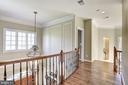 Upstairs hallway with just refinished HW floors - 40989 GRENATA PRESERVE PL, LEESBURG