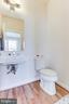 Main floor powder room. - 3160 VIRGINIA BLUEBELL CT, FAIRFAX