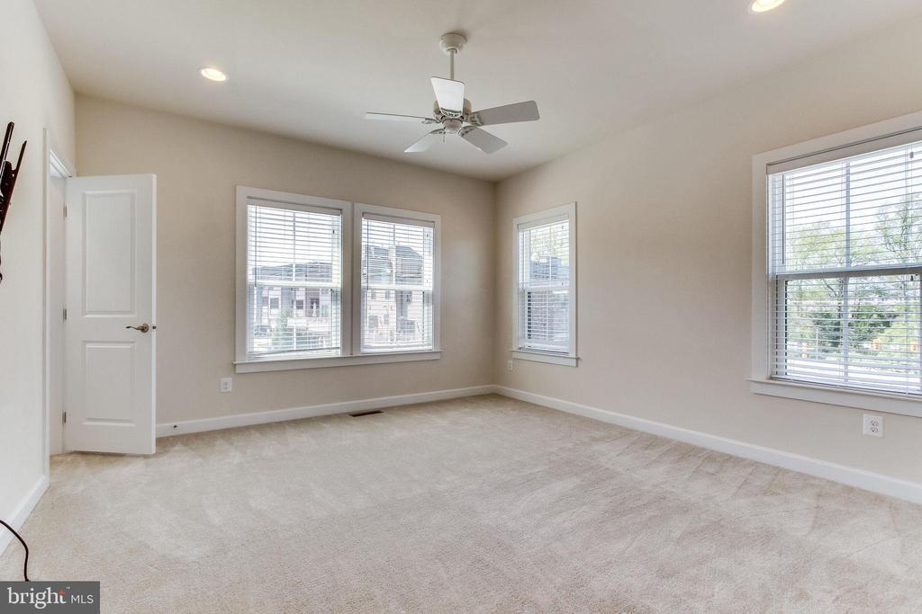 Master bedroom enjoys the light of a corner. - 3160 VIRGINIA BLUEBELL CT, FAIRFAX