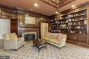 Main Level - Two-Story Library - 11517 HIGHLAND FARM RD, POTOMAC