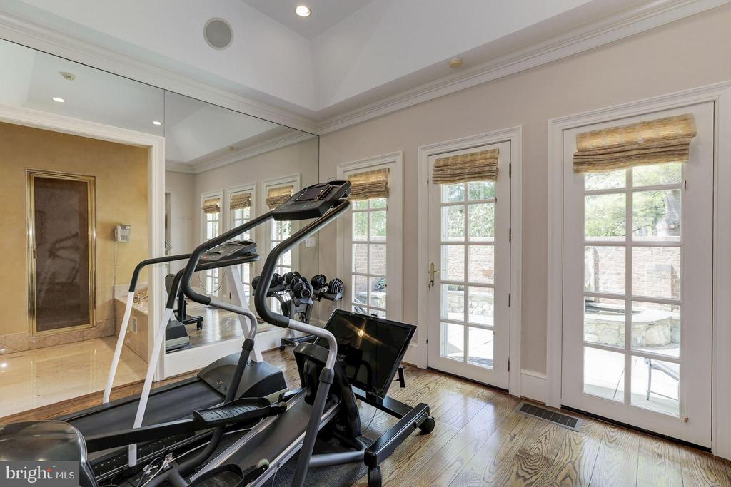 Main Level - Sitting Room/ Exercise Room - 11517 HIGHLAND FARM RD, POTOMAC
