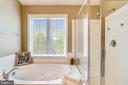 Soaking Tub and separate Glass Shower enclosure - 1911 LOGAN MANOR DR, RESTON