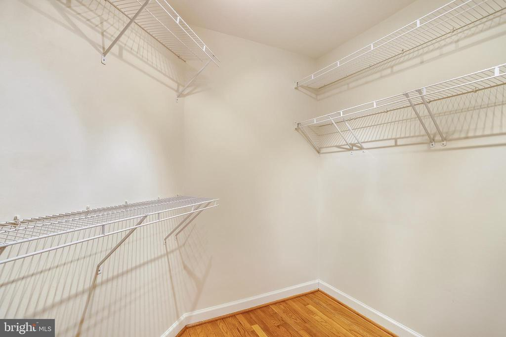 Sizable Walk-In Closet with ample hanging space - 1911 LOGAN MANOR DR, RESTON