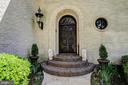 European/Old World Style Front Door Entrance - 3905 BELLE RIVE TER, ALEXANDRIA