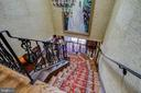 Spiral Staircase View from Upstairs Bedroom Level - 3905 BELLE RIVE TER, ALEXANDRIA