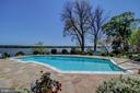 View From Cabana Towards Swimming Pool and River - 3905 BELLE RIVE TER, ALEXANDRIA