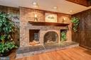 Lower Level Family Room with Fireplace Focal Point - 3905 BELLE RIVE TER, ALEXANDRIA