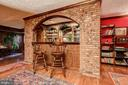 Lower Level Family Room with Wet Bar - 3905 BELLE RIVE TER, ALEXANDRIA