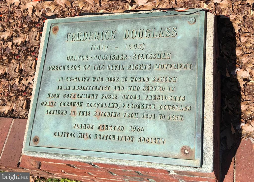Historic Plaque - 17 FREDERICK DOUGLASS CT NE, WASHINGTON