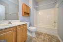 Hall bath on main level - 412 BIRDIE RD, LOCUST GROVE