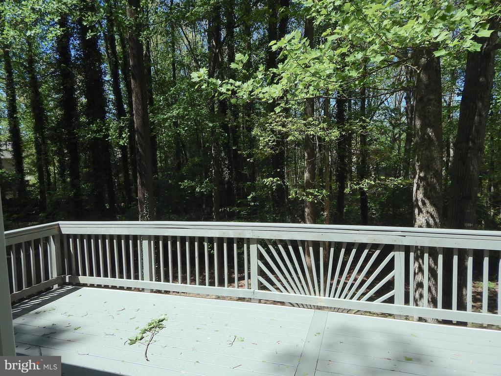 Composite deck w/serene view of wooded Common Area - 4 NORMAN CT, FREDERICKSBURG