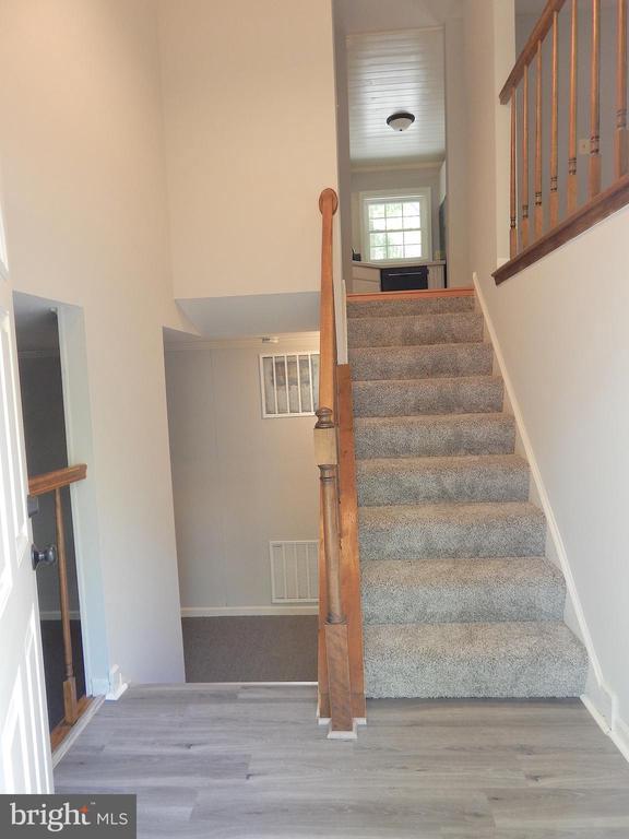 Welcoming open foyer-new flooring, paint, lighting - 4 NORMAN CT, FREDERICKSBURG