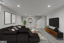 Virtually Staged Basement Family Room - 3701 SOUTH DAKOTA AVE NE, WASHINGTON