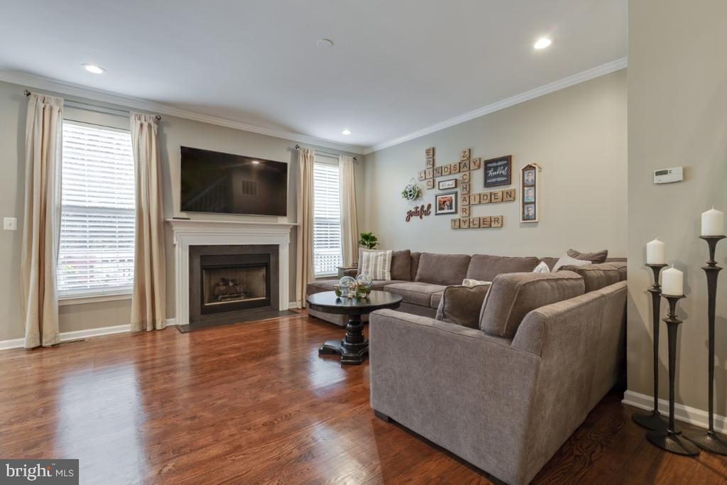 Family Room with Gas Fireplace - 43609 DUNHILL CUP SQ, ASHBURN