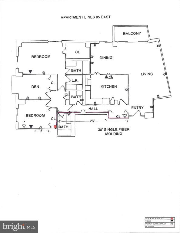 Floor plan - 4620 N PARK AVE #1005E, CHEVY CHASE