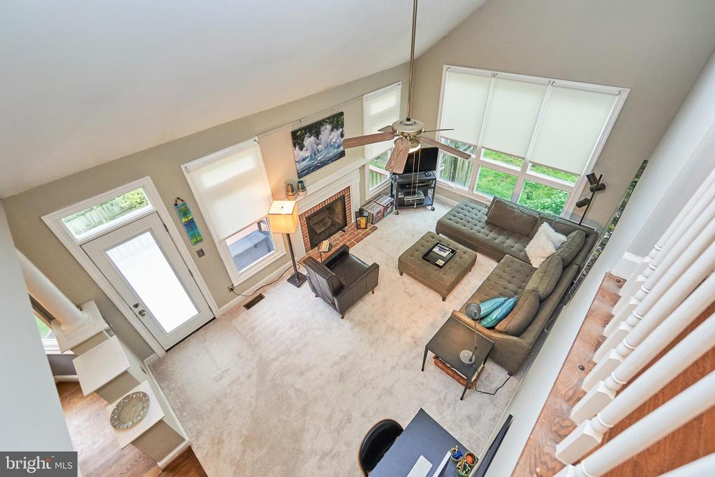 View of Family Room from Upper Level - 5809 MAGNOLIA LN, FALLS CHURCH