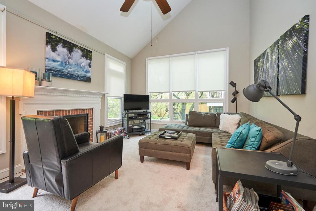 Wood Burning Fireplace and  Ceiling Fan - 5809 MAGNOLIA LN, FALLS CHURCH