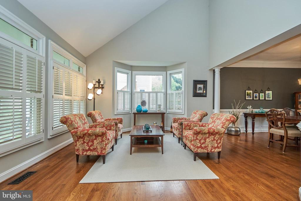 Formal Vaulted Ceiling Living Room - 5809 MAGNOLIA LN, FALLS CHURCH