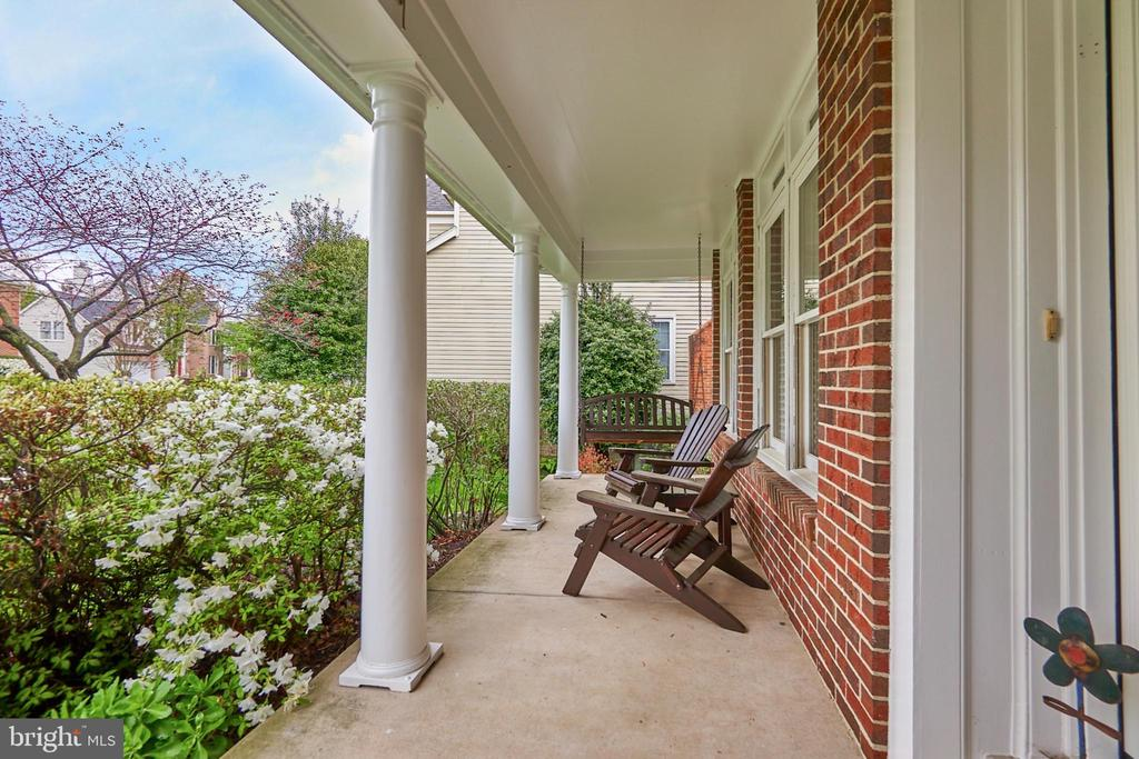 Front Porch with Swing - 5809 MAGNOLIA LN, FALLS CHURCH