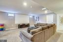 Recreational/ TV room with room for all! - 17720 CRICKET HILL DR, GERMANTOWN