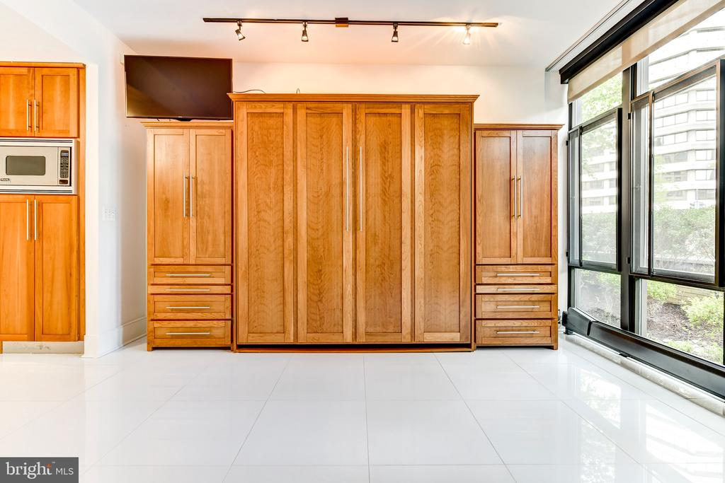 Custom made Murphy bed in closed position - 4301 MILITARY RD NW #112, WASHINGTON