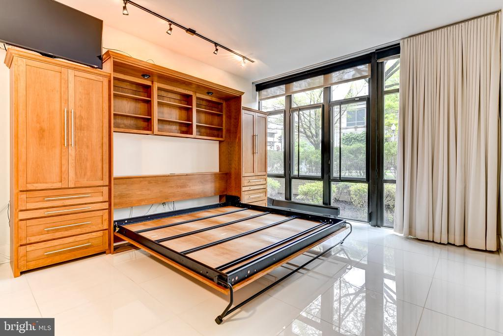 Murphy bed in open position - 4301 MILITARY RD NW #112, WASHINGTON