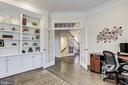 Custom cabinetry & French doors with transom above - 1381 BISHOP CREST CT, ALEXANDRIA