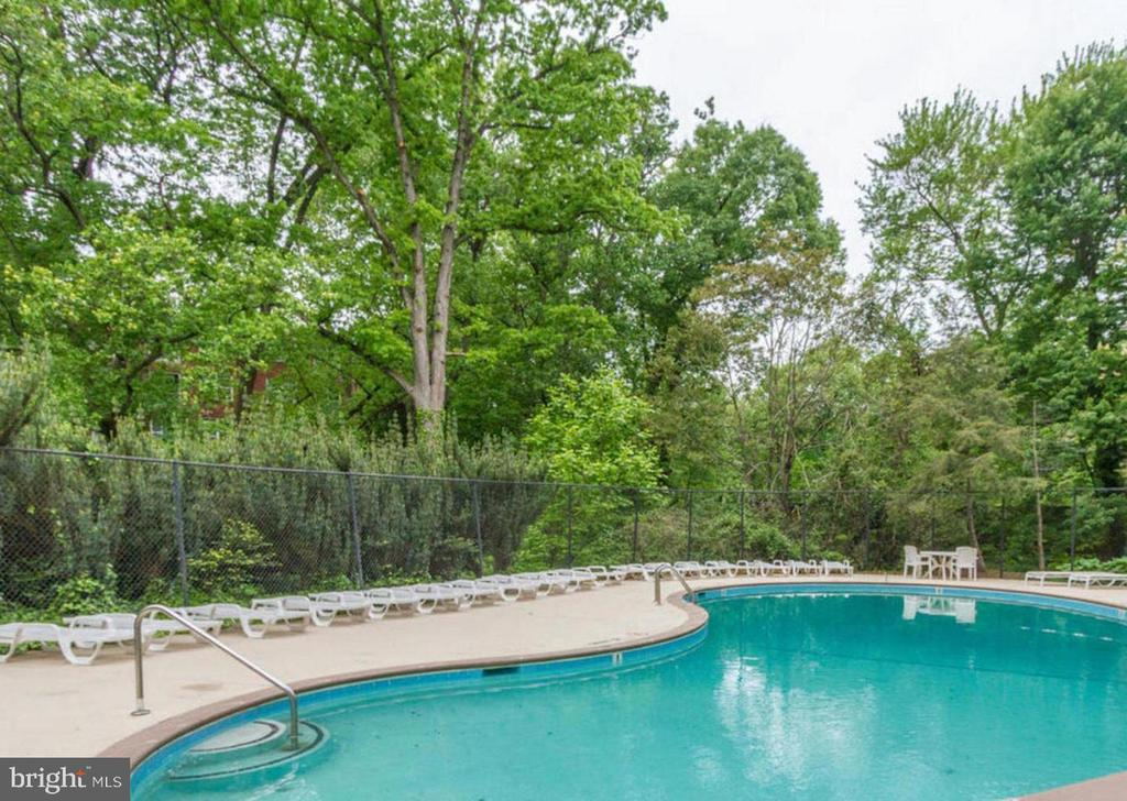Beautiful pool...Your view from the balcony! - 2030 N ADAMS ST #208, ARLINGTON