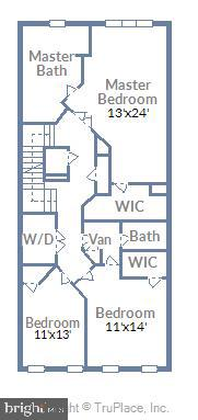 Upper level 1- luxury master, large laundry room - 23378 NANTUCKET FOG TER, BRAMBLETON