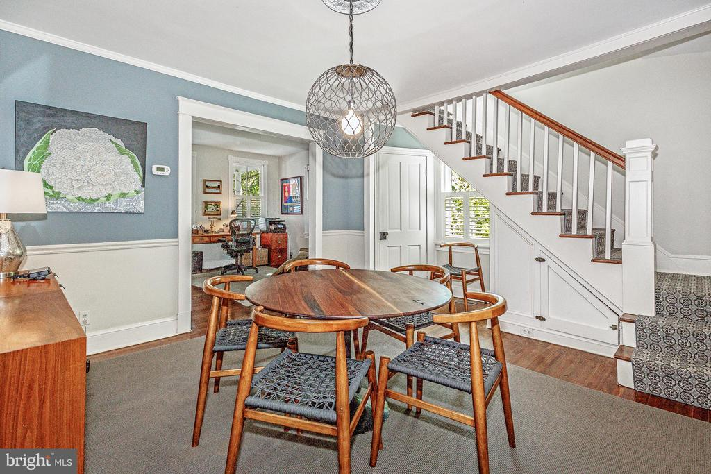 Formal dining room~with sight lines to office - 610 BURNSIDE ST, ANNAPOLIS