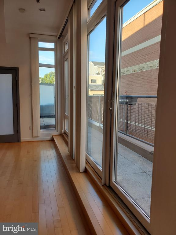 Floor to Ceiling  Windows are the entire wall - 1466 NW HARVARD ST NW #PH-3, WASHINGTON