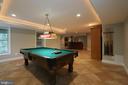 Lower level perfect for entertaining - 10651 OAKTON RIDGE CT, OAKTON