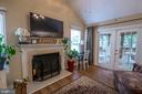 Fireplace and French doors to 3 season room - 29 BURNS RD, STAFFORD