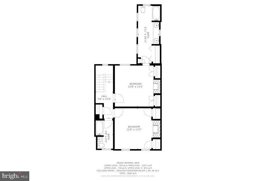 Second floor plan - 529 4TH ST SE, WASHINGTON
