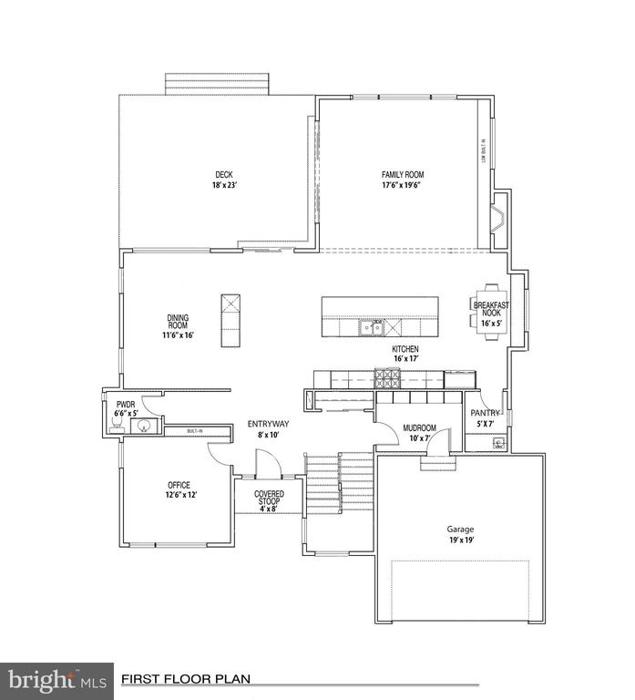 First Level Floorplan: Walk-in shower add in PRM - 110 TAPAWINGO RD SW, VIENNA