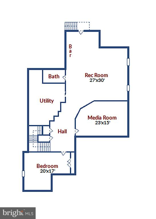 Lower Level Floorplan - 315 WINDOVER AVE NW, VIENNA
