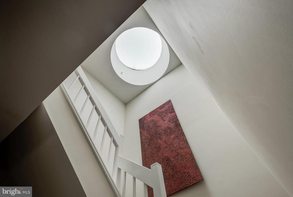 Huge Skylight in Stairway - 1300 CRYSTAL DR #PH14S, ARLINGTON