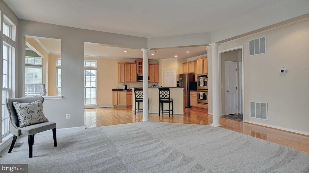 Family Room, opens to kitchen - 43262 LECROY CIR, LEESBURG