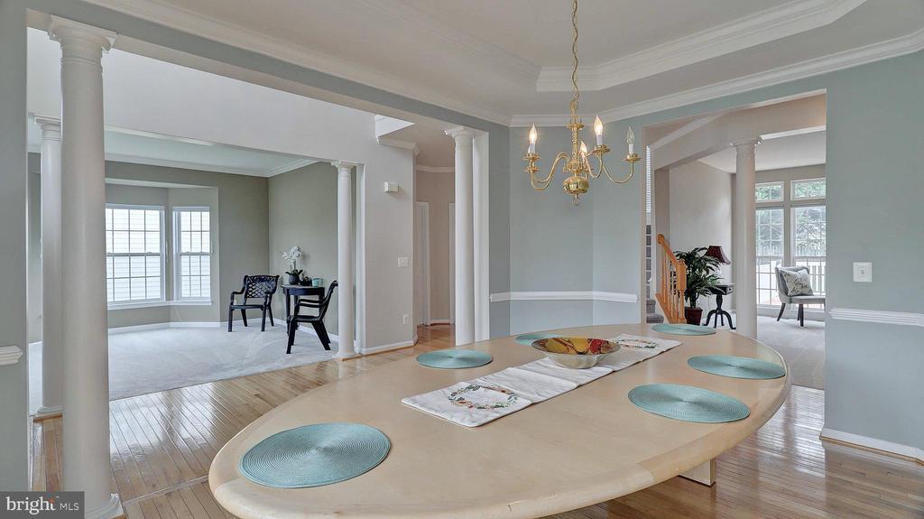 Dining Room, hardwood floor, bay window - 43262 LECROY CIR, LEESBURG
