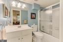 Lower Level Hall Full Bathroom - 4125 PARKGLEN CT NW, WASHINGTON