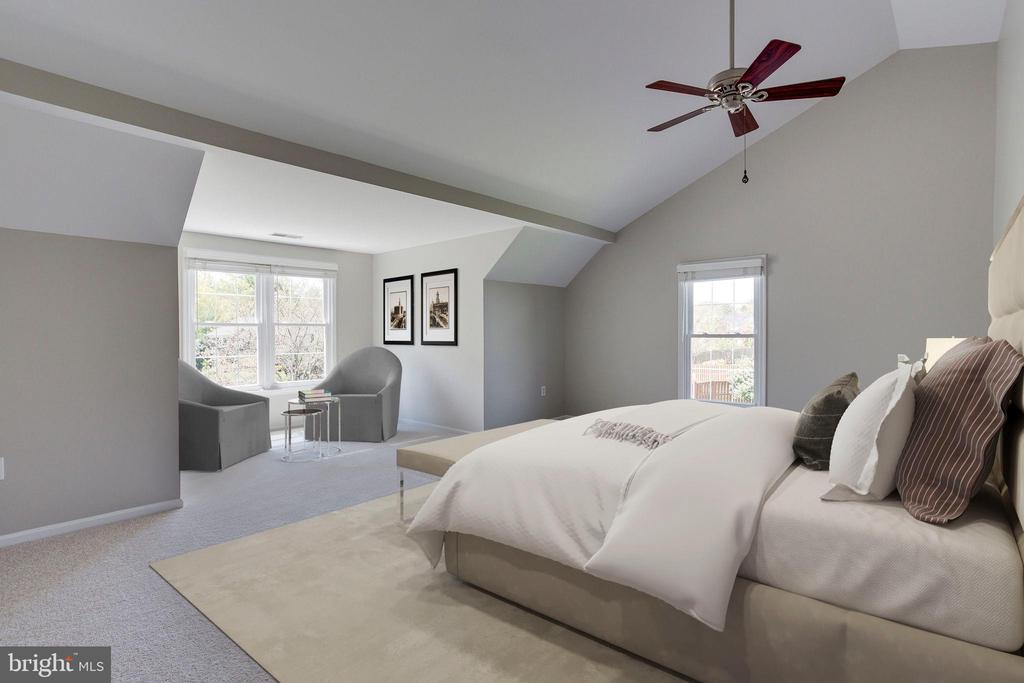 Master Bedroom - Virtual Staging - 2106 ROBIN WAY CT, VIENNA