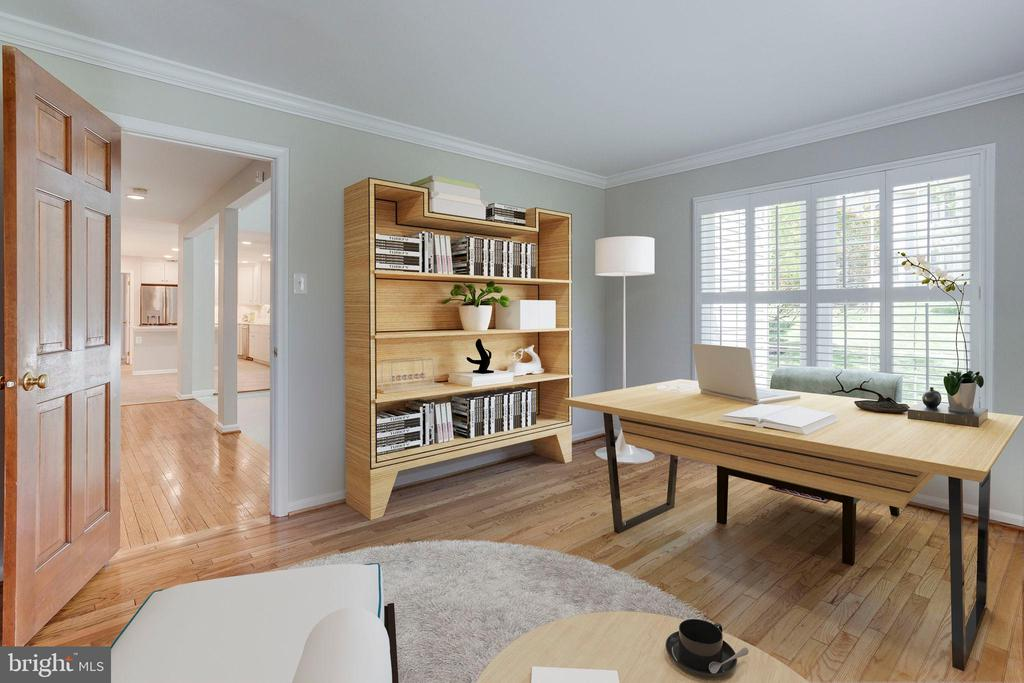 Home Office - Virtual Staging - 2106 ROBIN WAY CT, VIENNA
