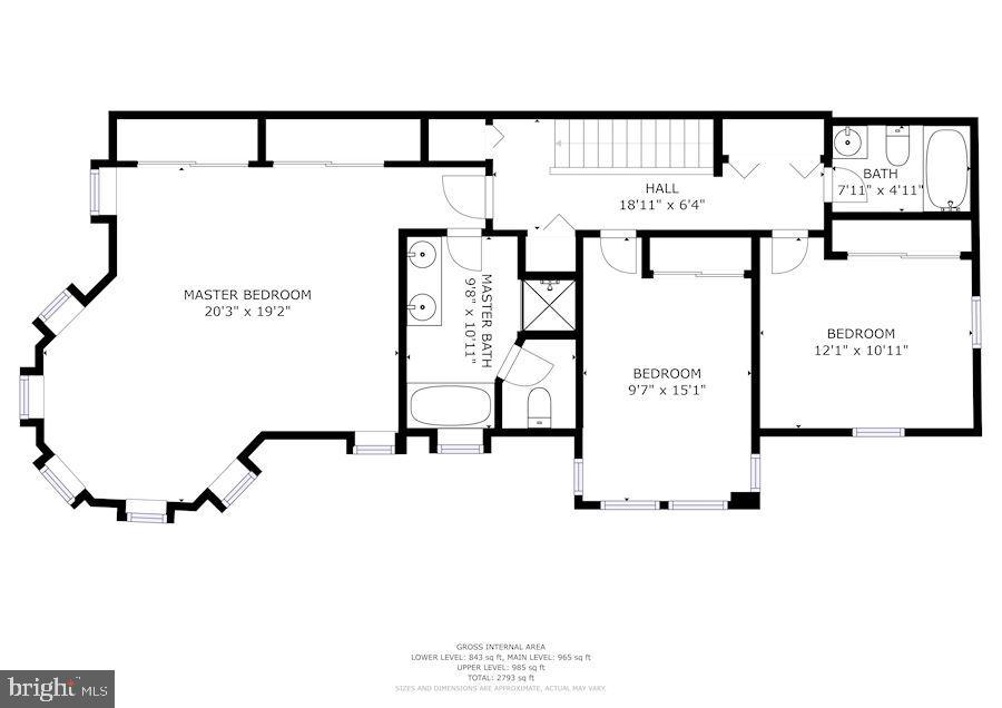 3rd level floor plan - 656 9TH ST NE, WASHINGTON