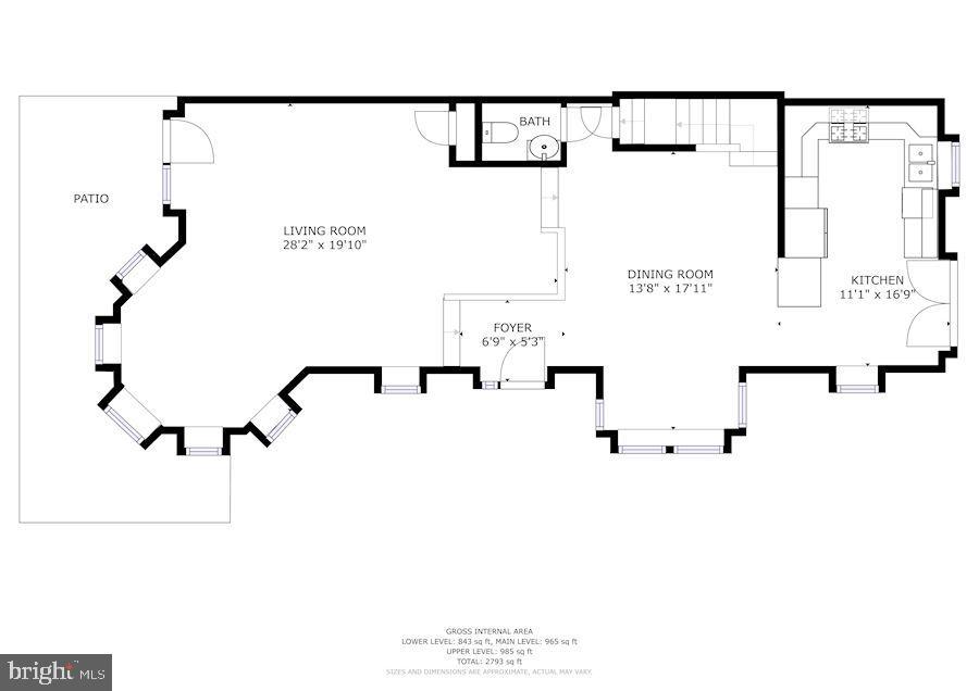Main level floor plan - 656 9TH ST NE, WASHINGTON