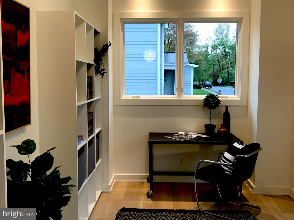 Study, white oak floor, cubes, windows, Nice! - 114 TAPAWINGO RD SW, VIENNA