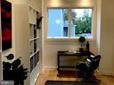 Study, white oak floor, cubes, windows, Nice! - 114 TAPAWINGO RD SW, VIENNA